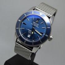 Breitling Superocean Heritage 46mm Blue Mesh LC EU Papers/Box/...