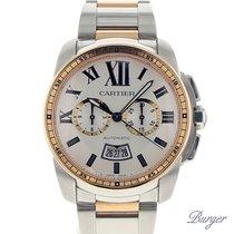 Cartier Calibre Chronograph Rose Gold/Steel