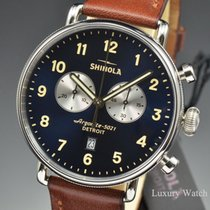 Shinola Canfield Chronograph 43MM Argonite 5021 Quartz Navy Blue