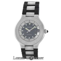 Cartier Unisex 37MM  Must 21 Autoscaph 2427 Steel Rubber Auto