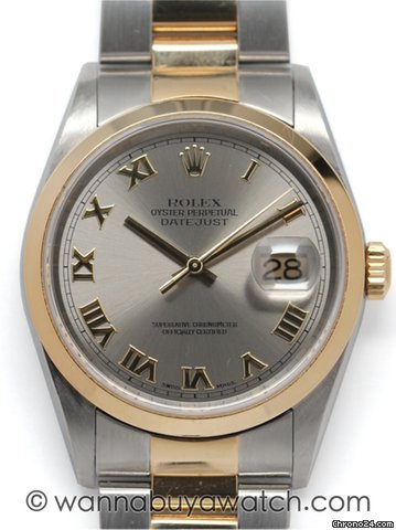 Rolex SS/18K Datejust ref.16203 circa 2002 / stk#41005