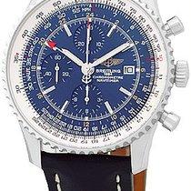 "Breitling ""Navitimer World GMT Chronograph"" Strapwatch."