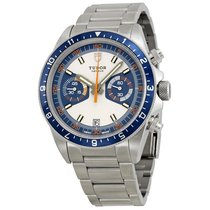 Tudor Heritage Chronograph Blue and Silver Dial Stainless...