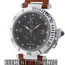 Cartier Pasha Collection Pasha 38mm GMT Power Reserve Platinum...