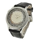 Patek Philippe World Time in White Gold with Diamond Bezel