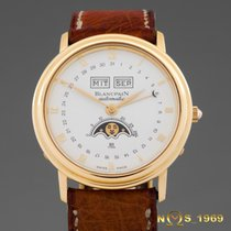 Blancpain Villeret 18K GOLD Automatic Triple Date Moon Phase