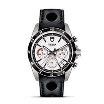 Tudor GRANTOUR Fly Back Date Chronograph Black Leather 20530 N