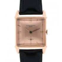 Vacheron Constantin Vintage Square Red Gold Leather, 28x38mm