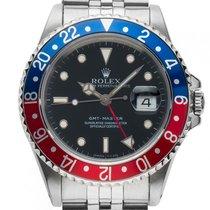 勞力士 (Rolex) GMT Master rot blau Pepsi Stahl Automatik Armband...
