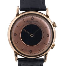 Jaeger-LeCoultre Gold Plated Memovox Manual Wind Alarm Wrist