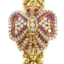 Audemars Piguet Yellow Gold Diamond and Ruby Pave Butterfly Watch