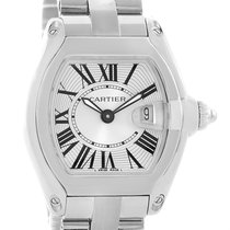 Cartier Roadster Silver Dial Ladies Stainless Steel Watch...