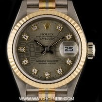 Rolex 18k Tridor Silver Jubilee Diamond Dial Ladies Datejust