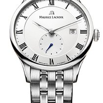 Maurice Lacroix Masterpiece Small Seconde, Date, Black Hands,...
