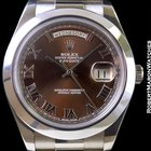 Rolex Day Date II President 18k White Gold 218239 Chocolate...