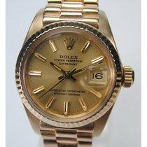 Rolex Oyster Perpetual, 750/- Gelbgold-Damenarmbanduhr
