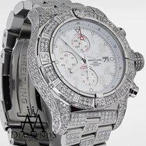Breitling Super Avenger White Dial A13370 13ct Fully Covered...