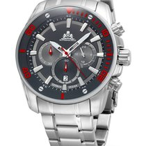 Rothenschild Steam RS-1403-AS-BKRD Chrono grey-red 47 mm 100M