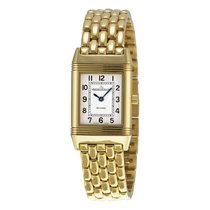 Jaeger-LeCoultre Reverso White Dial 18kt Yellow Gold Ladies...