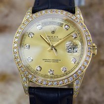 Rolex 18238 Men's Swiss Made 18k Solid Gold and Diamond...