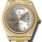 Rolex Day-Date II 41MM Yellow Gold 18Kt Silver Roman Dial