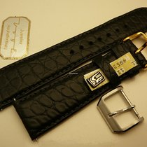 IWC steel buckle 18 mm with genuine alligator strap 22/18, New