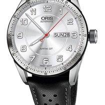 Oris Artix GT Day Date, Tungsten Top Ring, Leather