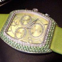 Van Der Bauwede Lime Green Saphires and Diamonds