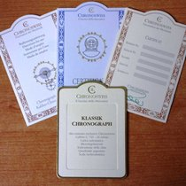 Chronoswiss warranty kit and booklet for klassik chronograph