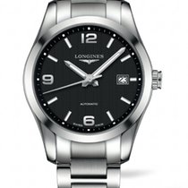 Longines Conquest Automatic  Black Dial  40mm R