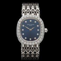 Patek Philippe Ellipse Original Diamonds 18k White Gold Ladies...