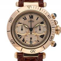 Cartier Pasha Chronograph 18kt Gelbgold Automatik Armband...