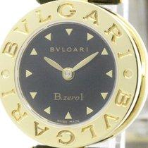 Bulgari Polished  B-zero1 18k Gold Leather Quartz Ladies Watch...