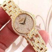 Patek Philippe 18K Yellow Gold PP Factory Paved Diamond Dial...
