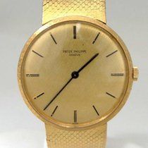 Patek Philippe Mens Vintage 18k Yellow Gold  Geneve Gold Dial...
