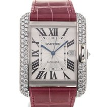 Cartier Tank Anglaise White Gold Diamond Pink