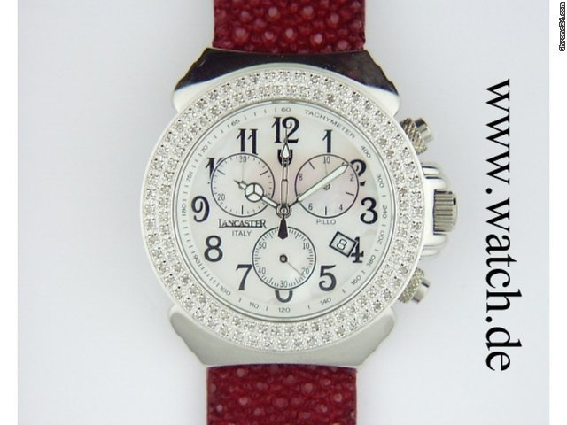 Lancaster Pillo Happy Vision Galuchat Diamond 39mm