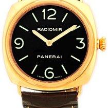 "Panerai Gent's 18K Rose Gold  ""Radiomir"" Strapwatch."