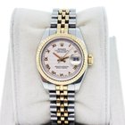 Rolex Datejust 179173 Two Tone with Ivory Pyramid Dial Ladies...
