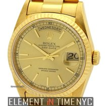 Rolex Day-Date 36mm President 18k Yellow Gold Champagne Stick...