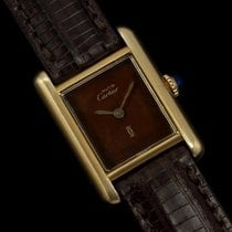 Cartier Vintage Ladies Tank Watch - Gold Vermeil, 18K Gold o