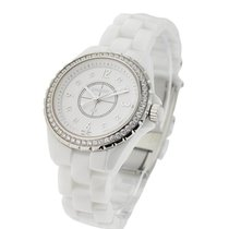 Chanel J12 H3110 White 33mm with Diamond Bezel