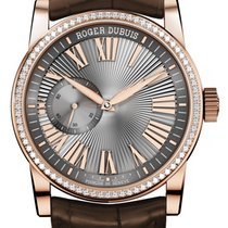 Roger Dubuis Hommage Automatic in pink gold set with diamonds