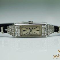 Rolex Princess 750 / 18K Weiss Gold Art Deco Diamanten Diamond