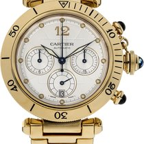 Cartier pasha chronograph yellow gold 18k 2511