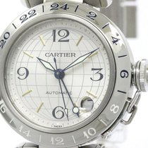 Cartier Polished Cartier Pasha C Meridian Steel Automatic...