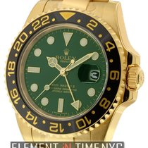 Rolex GMT-Master II 18k Yellow Gold Green Dial Ref. 116718