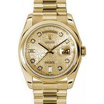 Rolex Day-Date 36 118208-GLJDDP Champagne Jubilee Dial Diamond...