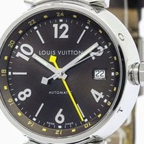 Louis Vuitton Tambour Gmt Steel Automatic Mens Watch Q1131...