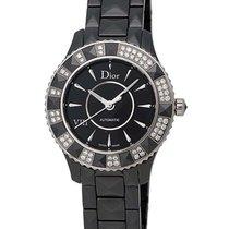 Dior VIII Black Ceramic and Steel Diamond Ladies Watch...